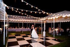 multiple tents reception with open dance floor