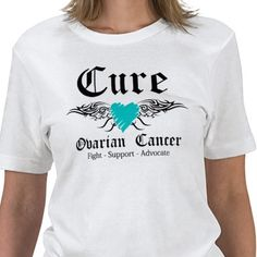 Cure Ovarian CancerTattoo Wings Shirt from http://www.zazzle.com/ovarian+cancer+tshirts