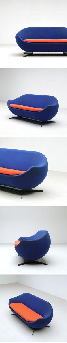Pierre Guariche, Meurop, rare, sofa, seat