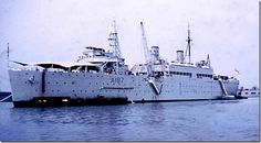 HMS AUSONIA. A merchant ship that was taken over by the Navy in WW2 and remained until her last trip to Scotland for scrapping.