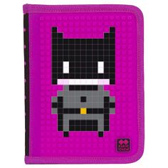 PIXIE CREW School Pencil Case BLACK / FUCHSIA - School Pencil Case - Pencil Cases  | Pixie Crew