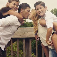 Famille, photo, nature, enfants