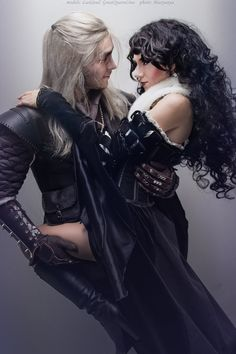 Characters: Geralt of Rivia & Yennefer of Vengerberg / From: Andrzej Sapkowski's 'The Witcher' Short Stories and Novels & CD Projekt RED's 'The Witcher' Video Game Series / Cosplayers: LastSoul as Geralt & Lina Groza (aka Great Queen Lina) as Yennefer The Witcher Game, The Witcher Geralt, Witcher Art, Ciri, Couples Cosplay, Cosplay Outfits, Cosplay Costumes, Game Of Thrones Story, Yennefer Cosplay