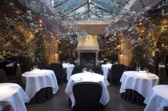 Romantic settings don't get more splendidly over-the-top than this. Take your pick from the wood-panelled restaurant or the atmospheric conservatory, bede