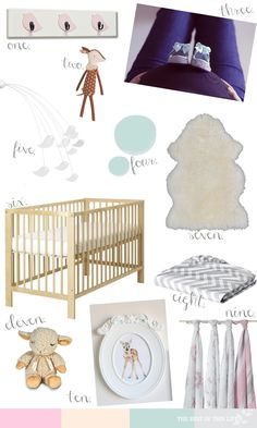 Baby Girl Nursery Inspiration #nursery #design (pink, mint, grey) www.bestofthislife.com  @IKEA Canada @Allison j.d.m Dencker + anais @Target