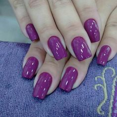 Love Nails, Fun Nails, Pretty Nails, Mani Pedi, Manicure, Purple Nails, Jelsa, Nail Polish Colors, Makeup Tutorials