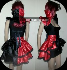 Hey, I found this really awesome Etsy listing at https://www.etsy.com/listing/287802441/harley-quinn-bustle-corset-burlesque