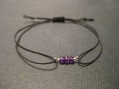 Wish Bracelet  Amethyst Gemstones February Birthstone by SoulSilk, $16.00