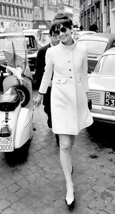 Audrey Hepburn, on weekend in Paris