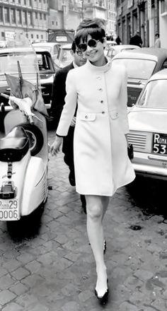Audrey Hepburn, on weekend in Paris
