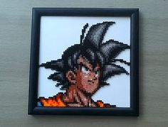 Dragon Ball Z Goku y Vegeta grano Sprites. por PixelBeadPictures