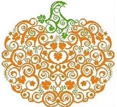 Spicy Pumpkin Cross Stitch Patterns