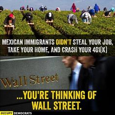 Unless you are a migrant worker, janitor, or other low skilled labor then most immigrants did not steal anything from you! They DO the jobs NOBODY else wants to do!
