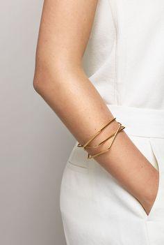 gold bangles.