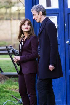 Jenna Coleman and Peter Capaldi filming Doctor Who in Bute Park, Cardiff (18 March 2014)  Is it wrong that I'm weirdly pleased to see Jenna in something that looks like genuinely practical adventure trousers?  I hope that's actually something that gets a lot of screen time.