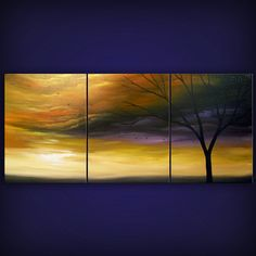 art painting abstract landscape painting tree painting by mattsart