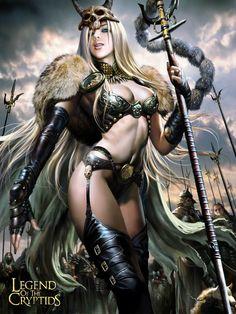 Legend of the Cryptids Chicas (Girls) Fantasy Female Warrior, 3d Fantasy, Warrior Girl, Fantasy Women, Fantasy Girl, Fantasy Artwork, Dark Fantasy, Female Art, Fantasy Portraits