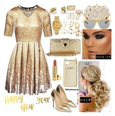 """""""Happy New Year's!"""" by lifeofmarta ❤ liked on Polyvore featuring Matthew Williamson, Christian Louboutin, Kate Spade, Betsey Johnson, Elizabeth Arden, Versace, Ruth Tomlinson, Andrea Fohrman, Ross-Simons and SPINELLI KILCOLLIN"""