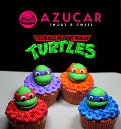 TMNT Cupcakes www.gotazucar.com