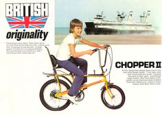 Feast your eyes on this ultimate comeback: The Chopper reborn. Raleigh has re-released the iconic bike - with its padded backrest, mismatched wheels and ape-hanger handlebars. The British classic. Ape Hanger Handlebars, Ape Hangers, Tenerife, Raleigh Chopper, Chopper Bike, Advertising Poster, Cool Bikes, Childhood Memories, Nostalgia