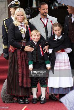 Crown Princess Mette-Marit of Norway, Prince Sverre Magnus of Norway and Princess Ingrid Alexandra of Norway Celebrate National Day In Asker on May 17, 2015 in Asker, Norway.