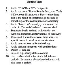 Thesis writing tips from the Dean
