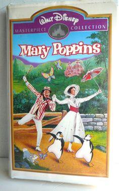 DISNEY-Masterpiece-MARY-POPPINS-Movie-Clamshell-Case-Kids-RARE-Original-Van-Dyke