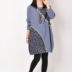 Women Cotton Linen Dress Loose Dress Summer Dress Long Sleeve Dress Large Size Dress For Women