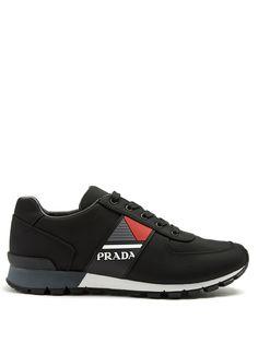 Prada Match Race Cordura Running Sneakers In Black New Balance, Prada Men, Prada Shoes, Running Sneakers, Black Rubber, Trainers, Sportswear, Racing, Mens Fashion