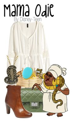 """Mama Odie"" by disney-teen ❤ liked on Polyvore featuring H&M, Design Inverso, Frye and Animal Planet"
