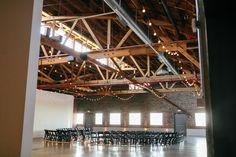 Courtney Sargent Photography Rental Space, Urban Industrial, Wedding Locations, Event Venues, Unique Vintage, Warehouse, Reception, Chandelier, Ceiling Lights