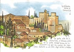Cordoba Spain, Granada Spain, Watercolor Landscape, Watercolor Art, Urban Sketchers, Andalucia, Spain Travel, Moleskine, Sketchbooks