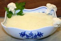 Karfiolkrémleves friss sajttal Gravy, Recipes, Food, Salsa, Essen, Meals, Ripped Recipes, Yemek, Eten