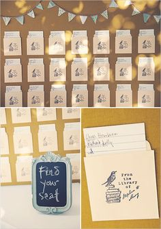 book cards used for wedding