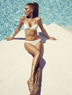 chantelle beachwear 2014 8 Maryna Linchuk Sizzles in Chantelle Beachwear 2014 Campaign