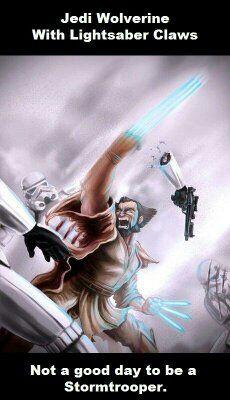 Jedi Wolverine w Lightsaber Claws