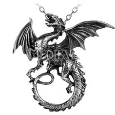 The Whitby Wyrm Pendant - AG-P323 by Medieval Collectibles