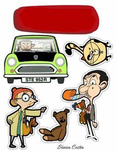 Mr Bean Cake, Bean Cakes, Mr Bean Birthday, Mr Bean Cartoon, Mr. Bean, Watercolor Birthday Cards, Doraemon Cartoon, Cute Easy Drawings, Cartoon Stickers