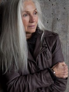 leather and gray hair, love!