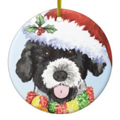 Happy Howliday Portuguese Water Dog