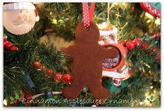 Mommy's Kitchen: Cinnamon Applesauce Christmas Ornaments {Crafty Kitchen}