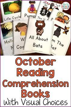 These are the perfect books for students who need visual supports in order to answer reading comprehension questions. It is easy to target listening comprehension and WH questions with these texts as well. These adapted and interactive books are ideal for special education classrooms, life skills programs, self-contained classes, speech therapy, remedial reading and early elementary classes.