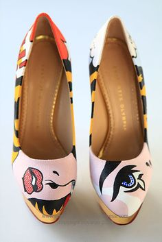 Charlotte Olympia pop art shoe by Boyarde Messenger