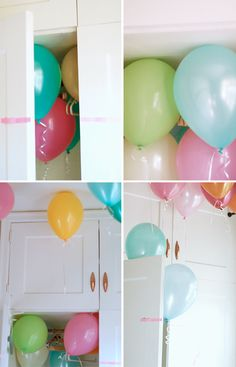 birthday balloon surprise in the closet  from asubtlerevelry