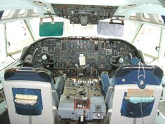 Vickers VC10 cockpit, taken at Duxford, September, 2014.