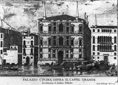 Luca Carlevarijs - Palazzo Coccina on the Grand Canal TEMA 9 Andrea Palladio, Grand Canal, Architectural Antiques, Michelangelo, 16th Century, Landscape Paintings, Louvre, Illustration, Artist
