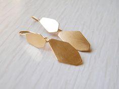 Gold Nugget Earrings Gold Dangle Earrings Long Gold by Galit, $90.00