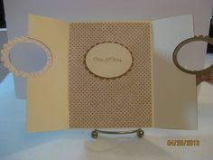 Cream & Gold Wedding card inside by Kalla Walla - Cards and Paper Crafts at Splitcoaststampers