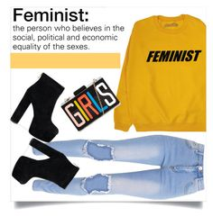 """Feminist"" by anacarolinaferraz ❤ liked on Polyvore featuring fashionset"