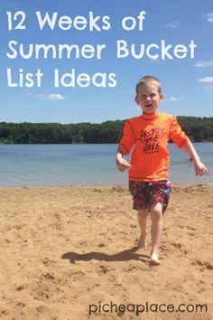 12 Weeks of Summer Bucket List Ideas